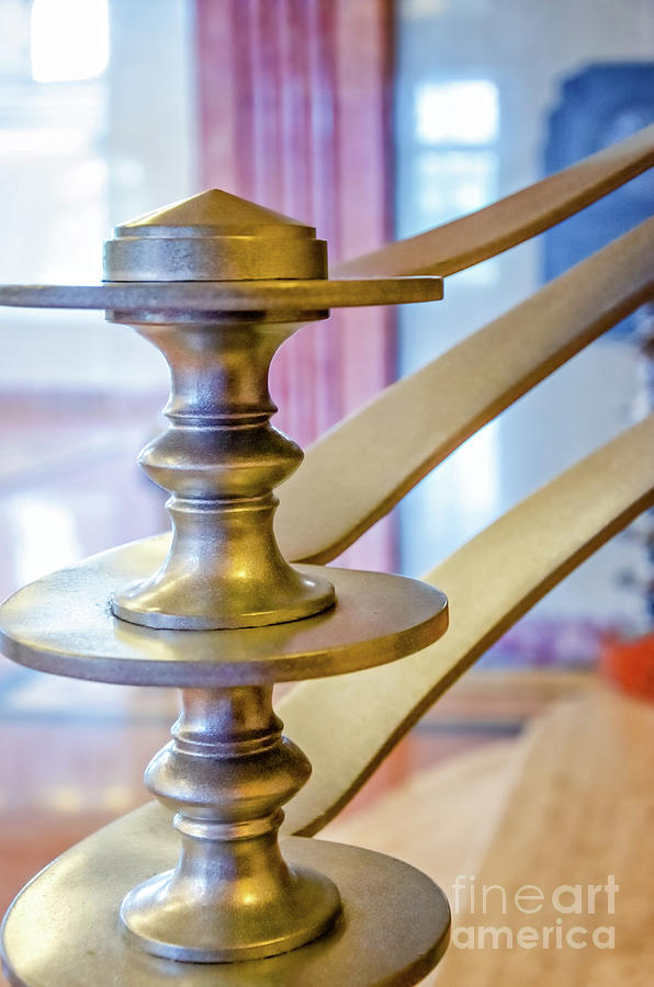 Art Deco Newel Post At Lakefront Airport New Orleans Photograph