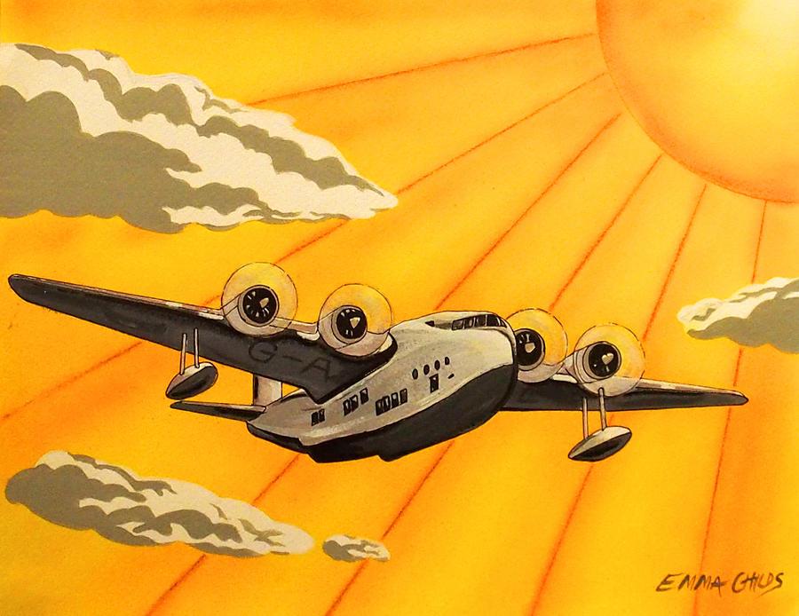 Art Deco Plane Poster Painting
