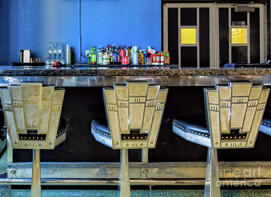 Art Deco Stools - Lakefront Airport New Orleans Photograph