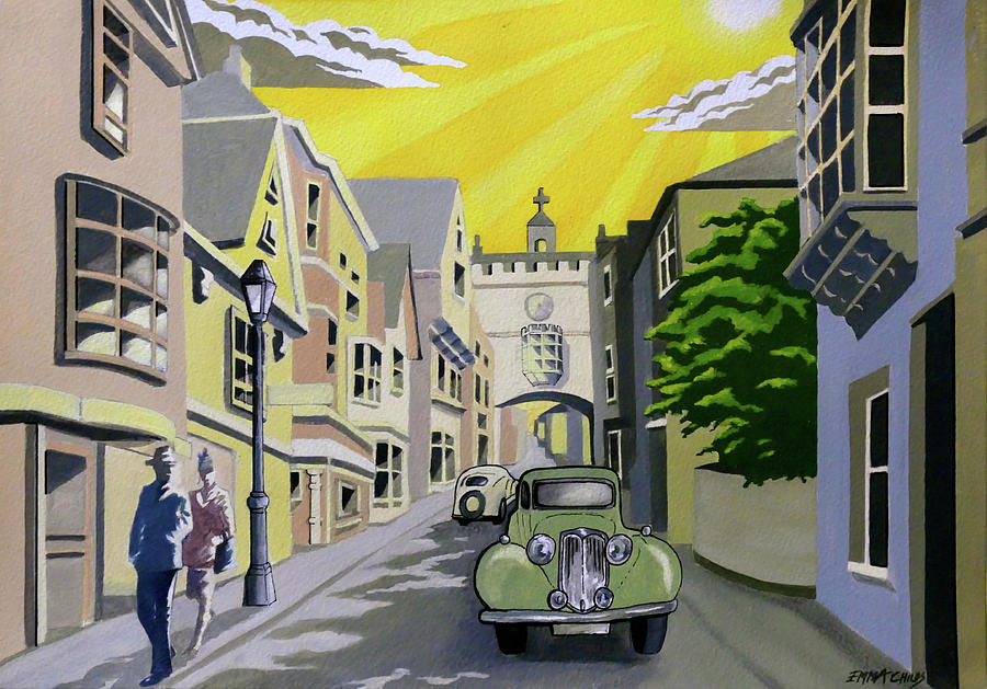 Art Deco Totnes Painting