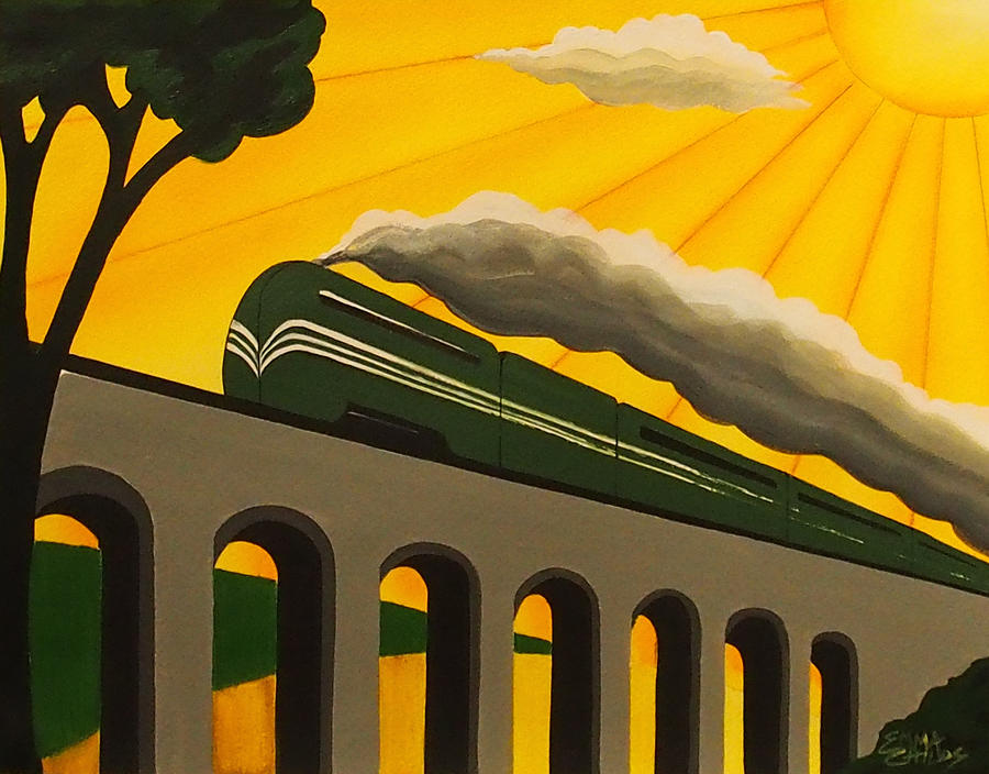 Art Deco Train Poster