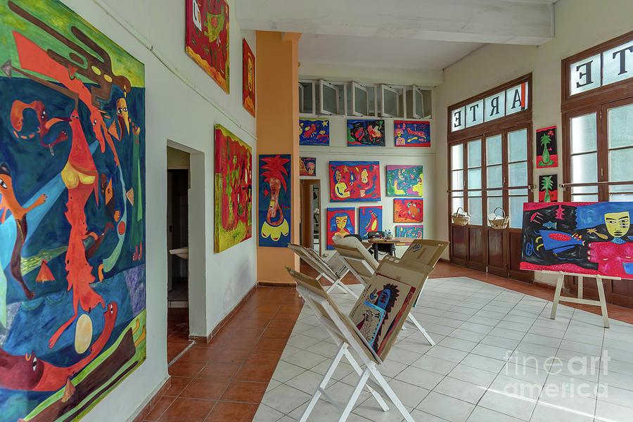 Museum Photograph - Art Gallery In Havana by Viktor Birkus