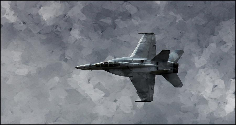F18 Photograph - Art in Flight F-18 Fighter by Aaron Berg