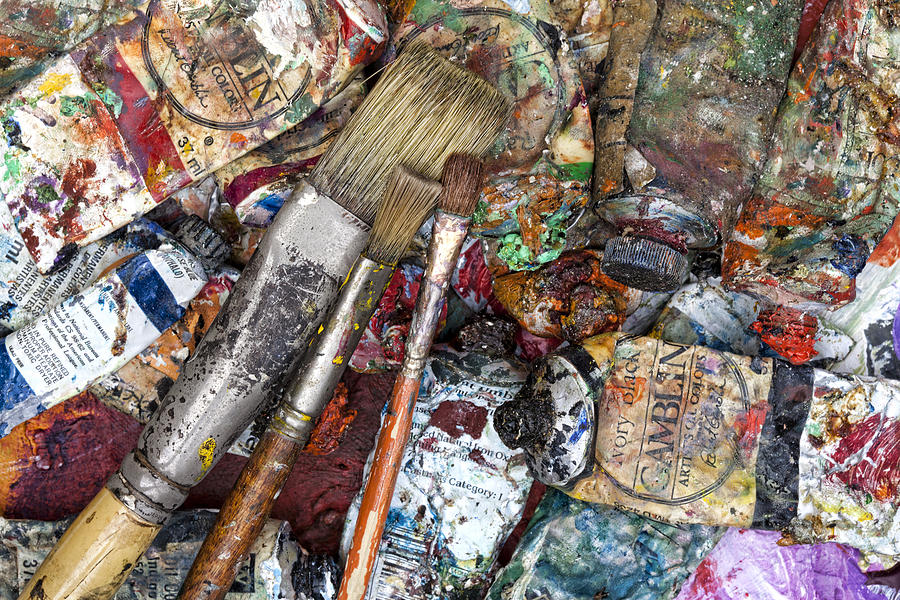 Artist Photograph - Art Is Messy 5 by Carol Leigh