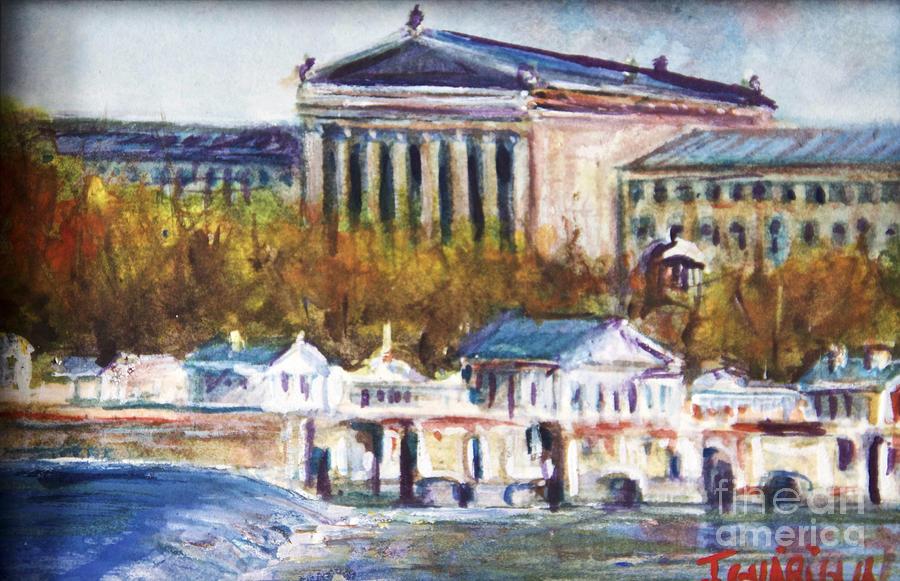 Philadelphia Pa Drawing - Art Museum by Joyce A Guariglia