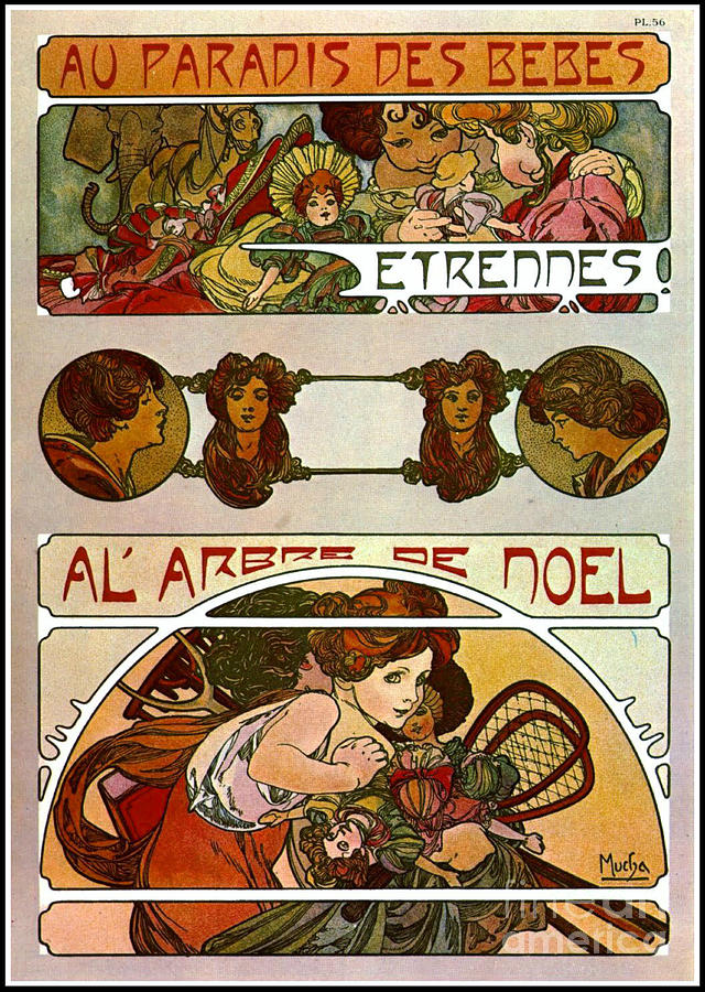 Art Nouveau Christmas Promo 1901 Photograph by Padre Art