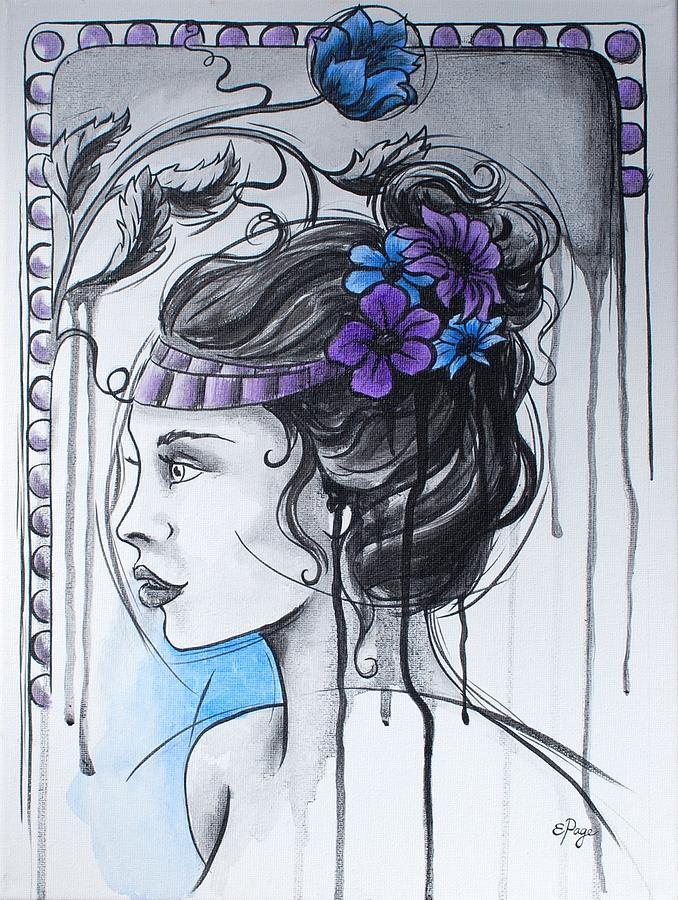 Art Nouveau Painting - Art Nouveau Girl 1 by Emily Page