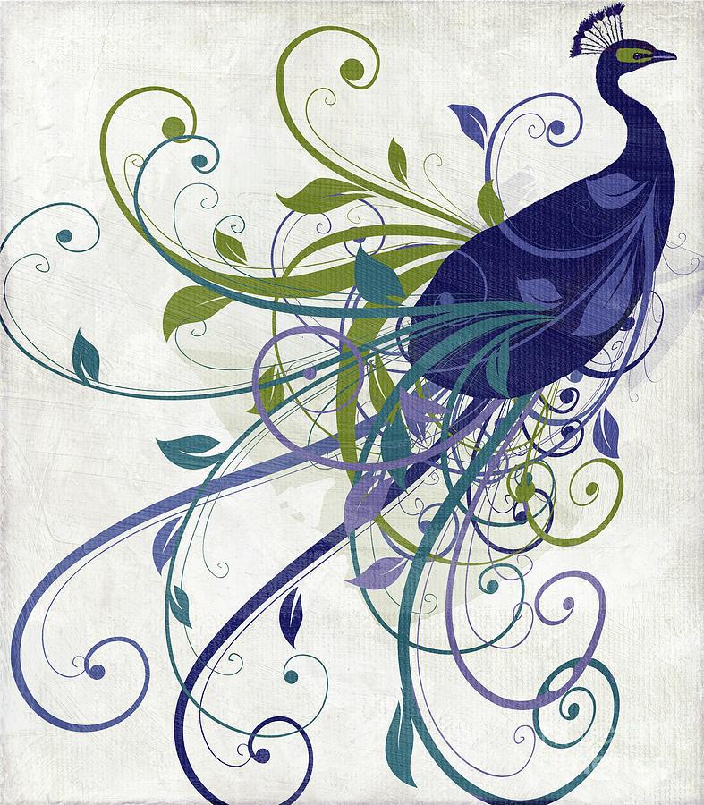 Art Nouveau Peacock I Painting