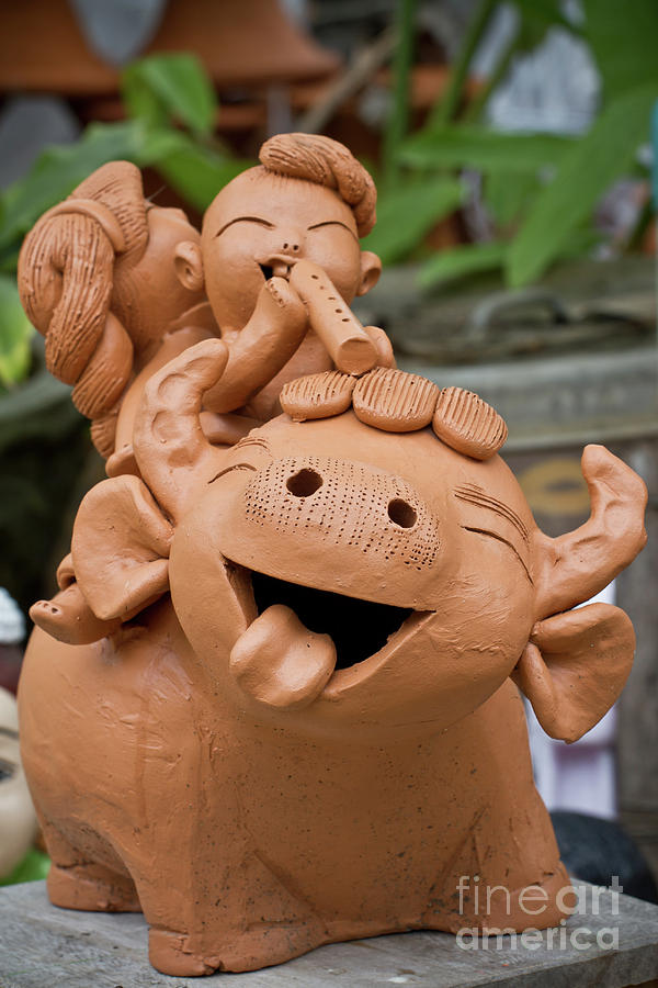 Ancient Sculpture - Art Of Pottery Making.   by Thakoengphon  Sakkakit