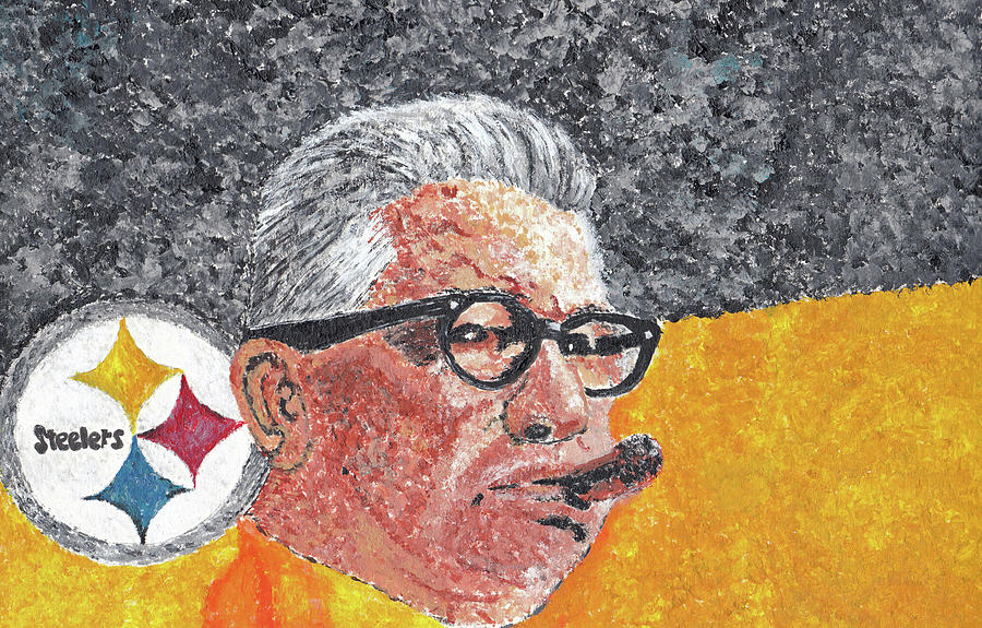 Rooney Painting - Art Rooney by William Bowers