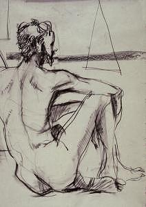 Figure Study Drawing - Art Students League Drawing 05 by Denise Urban