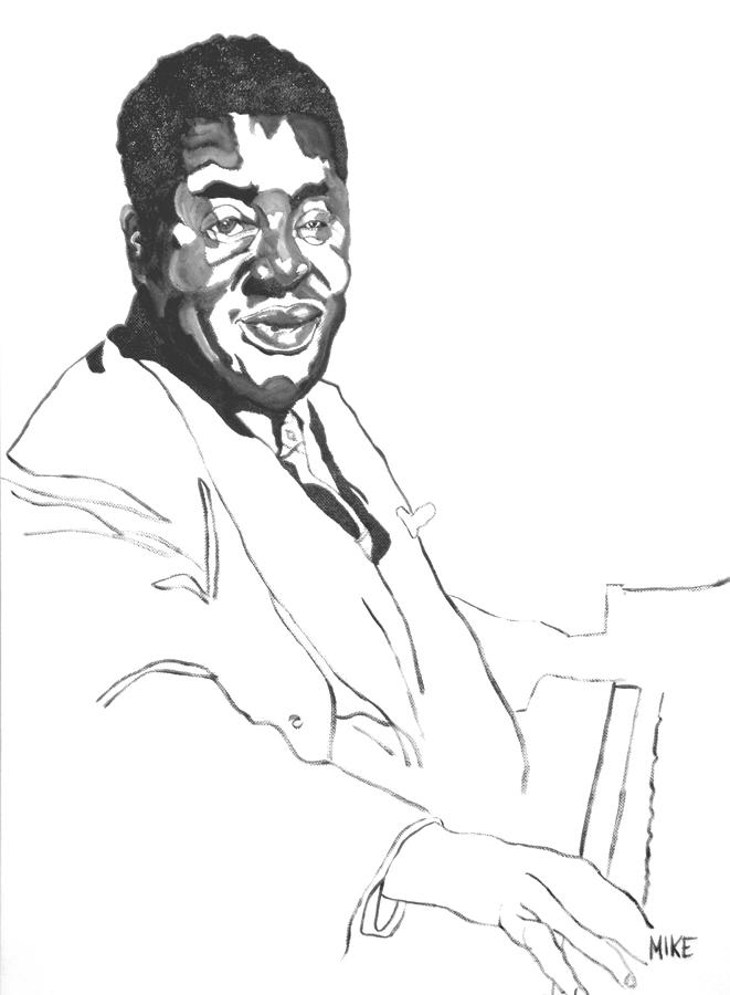 Jazz Painting - Art Tatum by Michael Fields