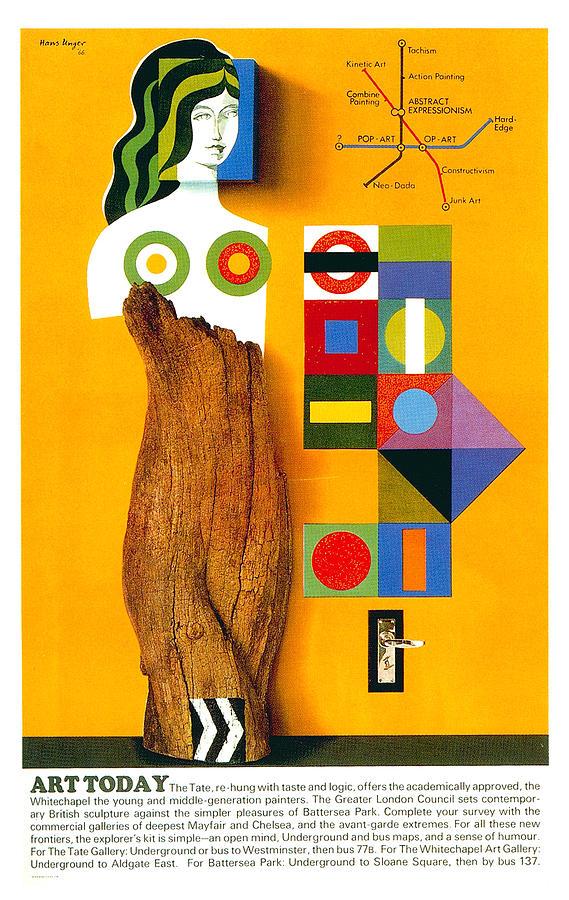 Art Today - London Underground, London Metro - Retro Travel Poster - Vintage Poster Mixed Media