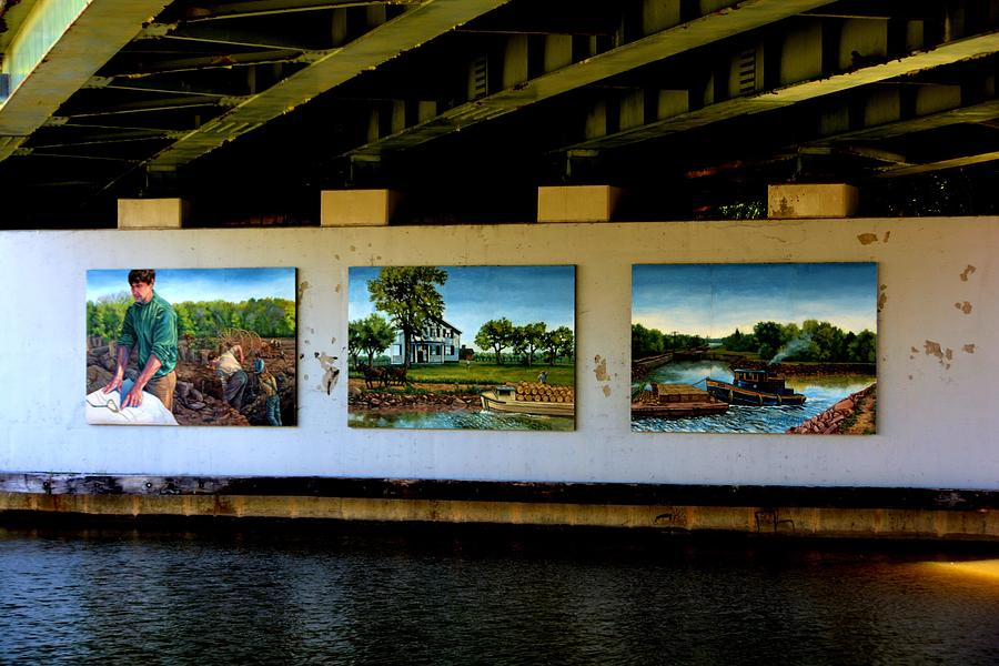 Erie Photograph - Art Work On The Erie Canal by Richard Jenkins