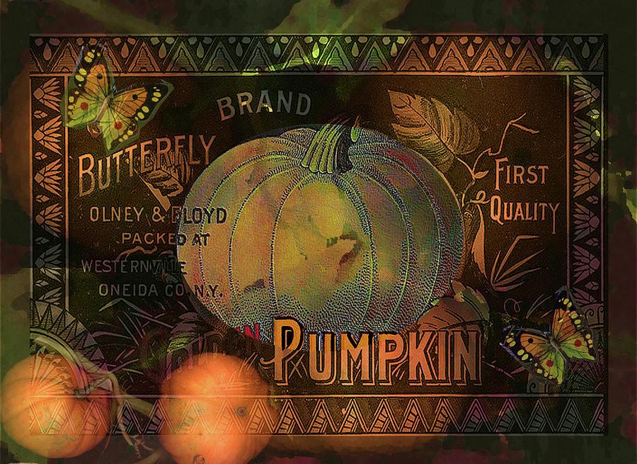 Pumpkin Digital Art - Artful Pumpkins by Sarah Vernon