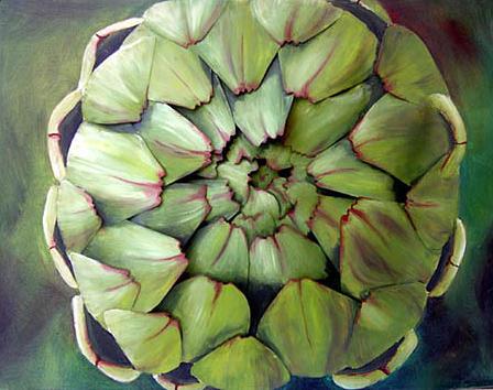 Artichoke Painting - Artichoke - Original Sold by Cathy Savels