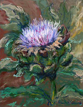 Pastel Painting - Artichoke Blossom by Brenda Williams