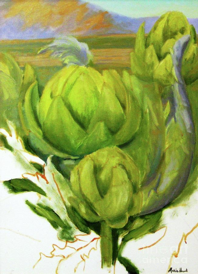 Artichoke  unfinished by Maria Hunt
