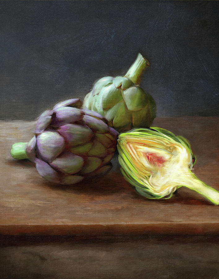 Artichokes Painting by Robert Papp