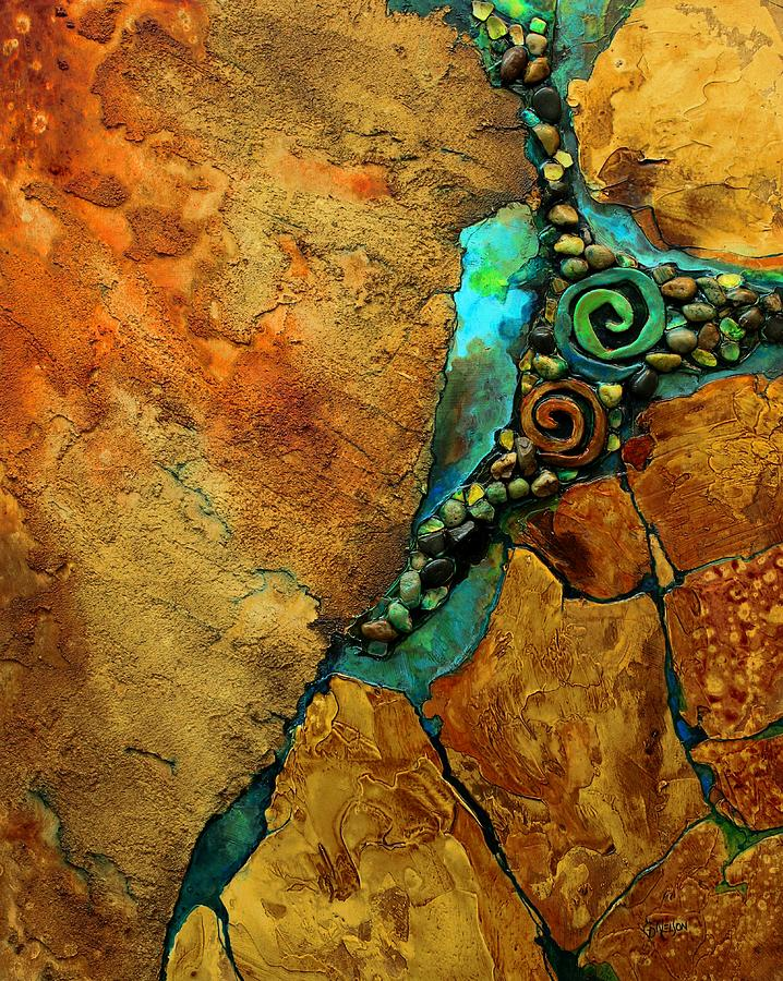 Geologic Painting - Artifacts by Carol Nelson
