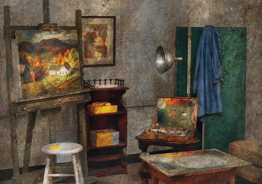 Savad Photograph - Artist - Painter - The Artists Studio by Mike Savad