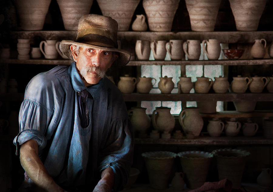 Hdr Photograph - Artist - Potter - The Potter II by Mike Savad