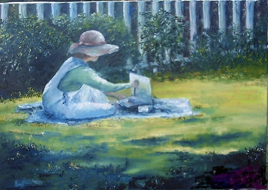 Artists Painting - Artist At Play by Chana Meeks