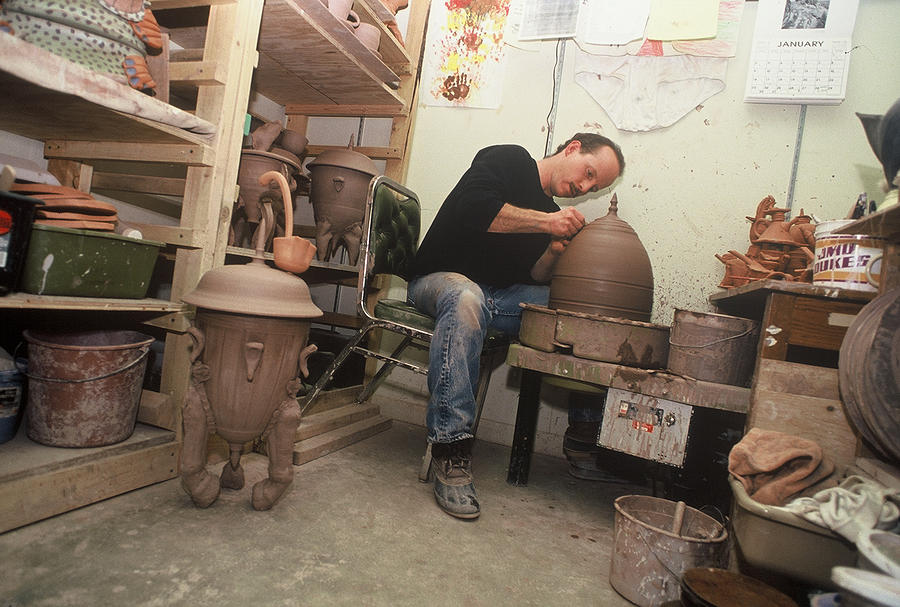 Artist At Work Ceramic Art by Kreg Owens