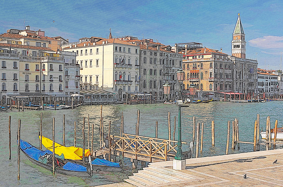Europe Digital Art - Artist Impression Of Venice by Johan Elzenga