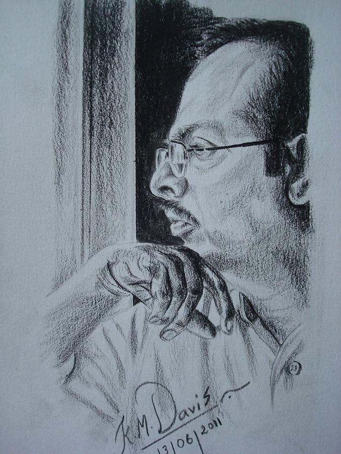 Artist jeevananthan coimbatore drawing by davis km