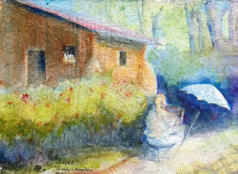 Artist Painting - Artist painting artist by Diane Binder