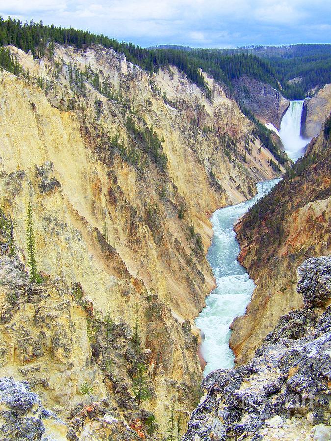 Yellowstone Photograph - Artist Point Il by Peyton Imes
