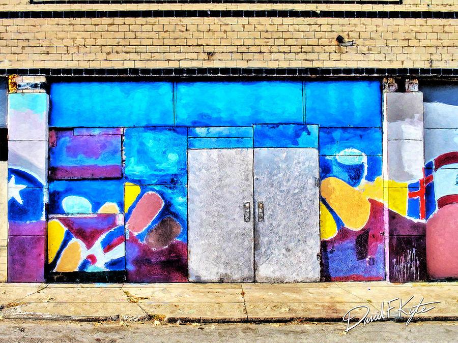 Artist Painting - Artist Village Wall by David Kyte