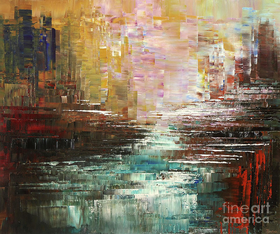 Artist Whitewater Painting by Tatiana Iliina