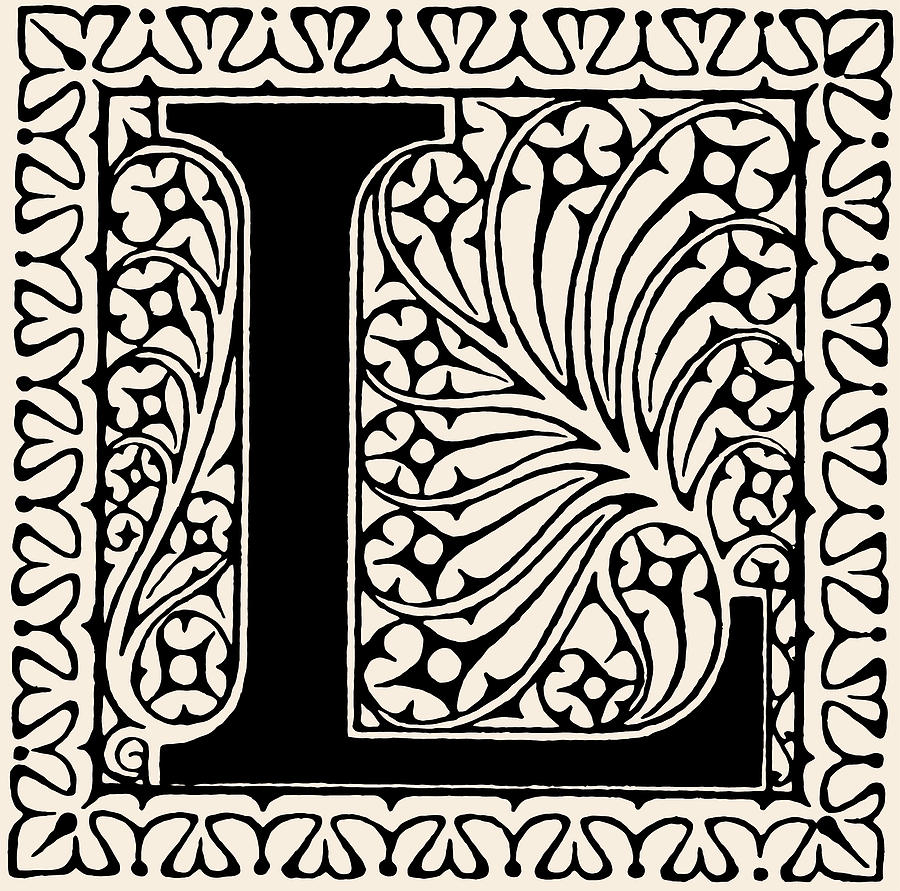 Letter L Digital Art