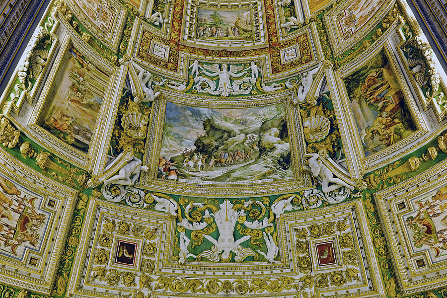 Vatican Photograph - Artistic Ceilings Within The Vatican Museums In The Vatican City by Richard Rosenshein