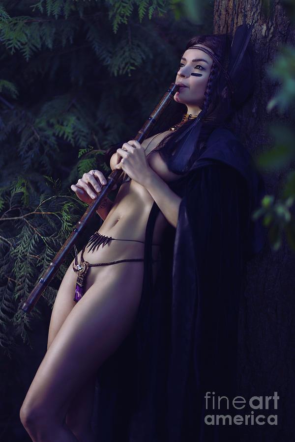 Artistic Sensual Portrait Of A Sexy Native American Tribal Woman