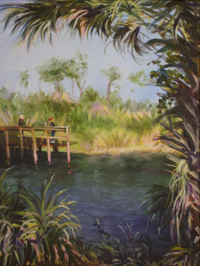 Artists At Alligator Pond Painting by Clare Harvey