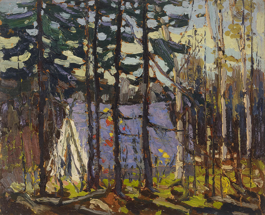 Canadian Painters Painting - Artists Camp, Canoe Lake, Algonquin Park by Tom Thomson