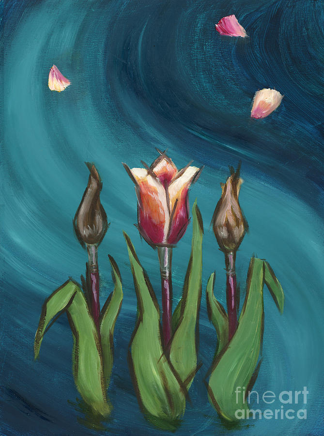 Paintbrush Painting - Artists In Bloom by Brandy Woods