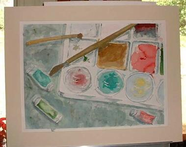 Art Supplies Painting - Artists Pallette by Ladonna Idell