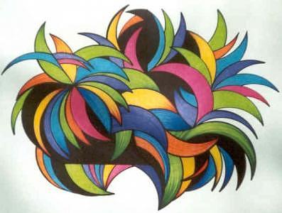 Abstract Drawing Drawing - Artpit 10 by Joyce Blair