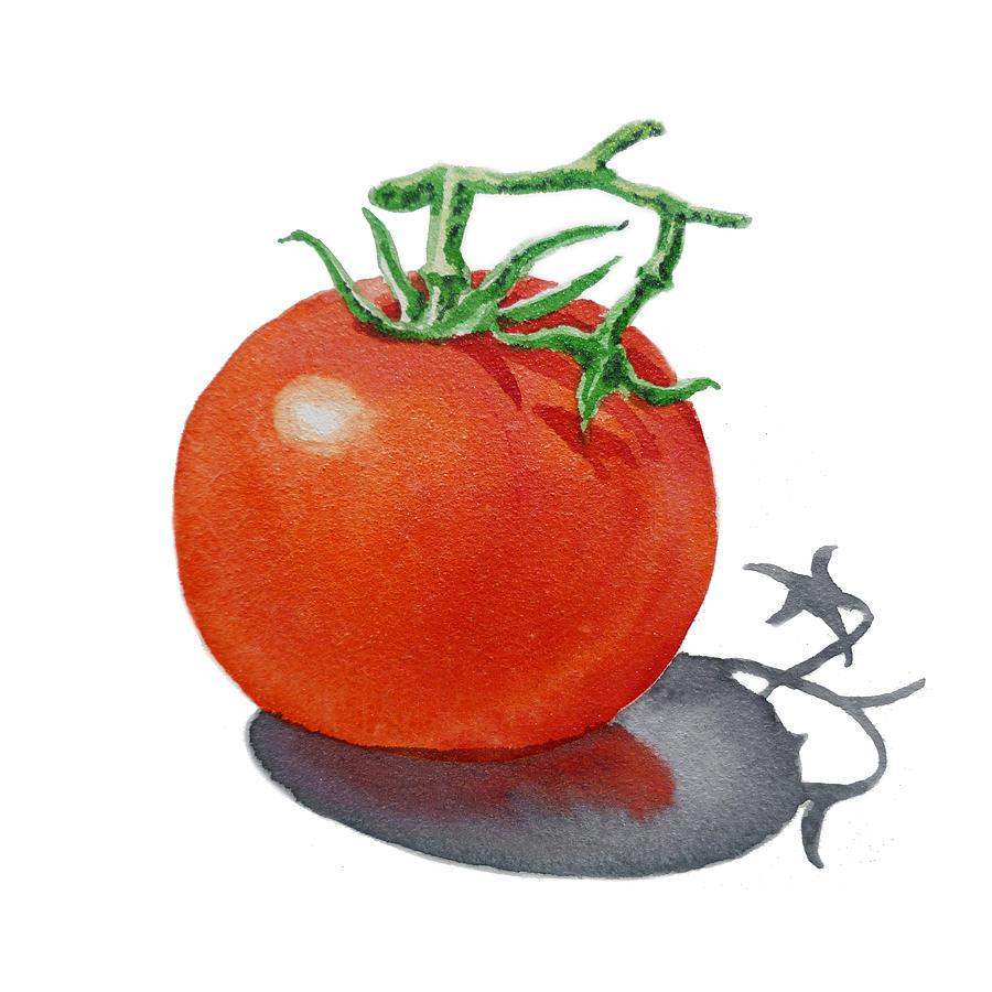 Tomato Painting - Artz Vitamins Tomato by Irina Sztukowski
