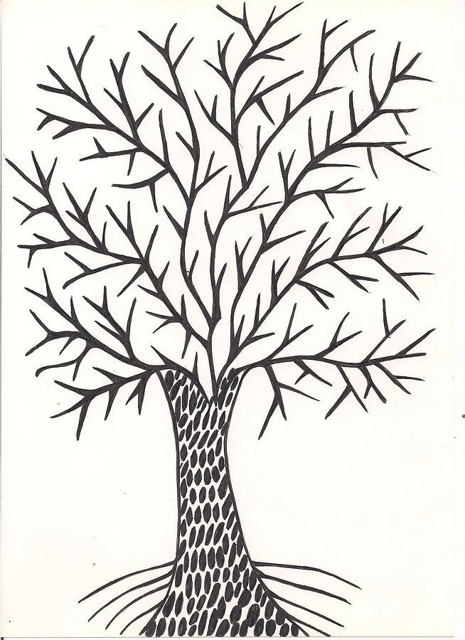 Arvore Drawing By Hilda Derige