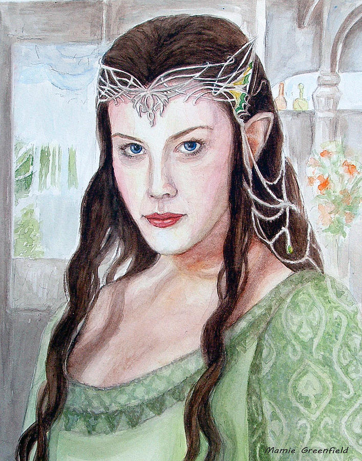 Portraits Painting - Arwen by Mamie Greenfield