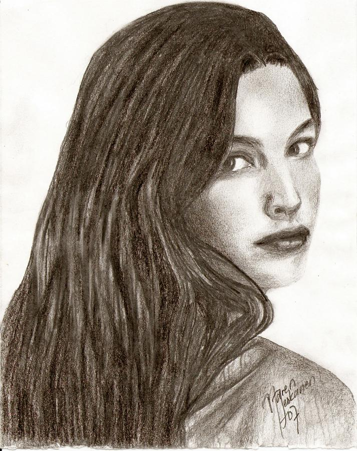 Arwen Drawing by Maren... Liv Tyler Today