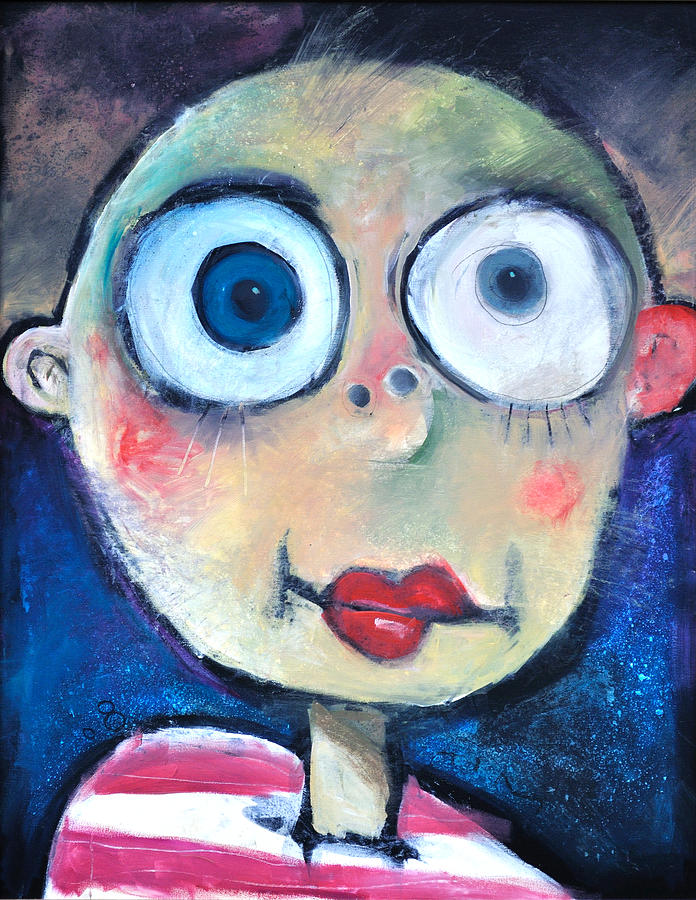 Child Painting - As A Child by Tim Nyberg