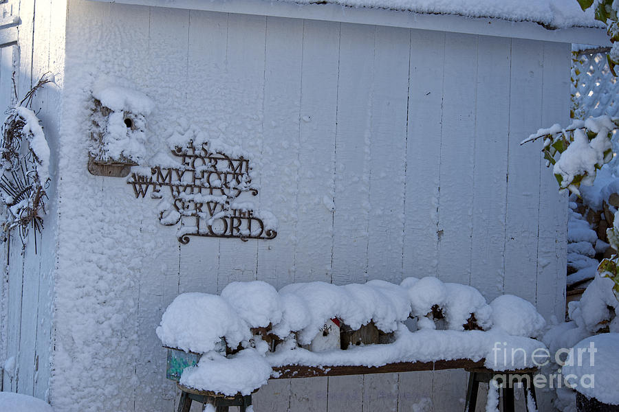 Winter Photograph - As For Me And My House by David Arment