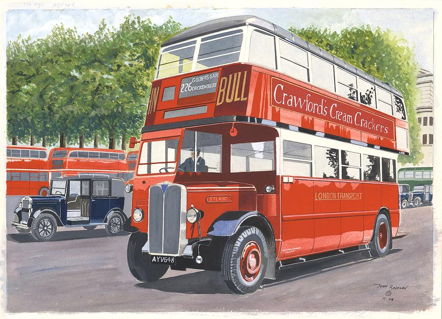 Transportation Painting - As Good As New by John Kinsley
