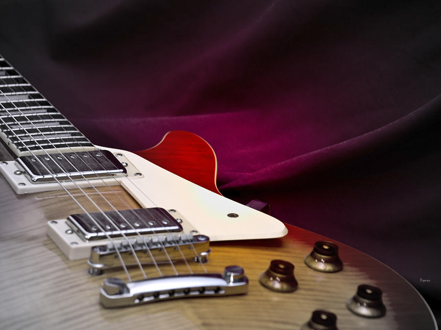 Guitar Photograph - As in Sound Body by Steven Digman